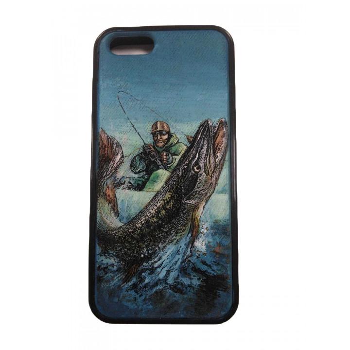 "Чехол для телефона IPhone 5, 5S/ SE гравировка дерево ""Индивидуалист"""
