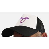 """Бейсболка с сеткой """"Fisher WOman"""" (белый-фиолетовый)"""