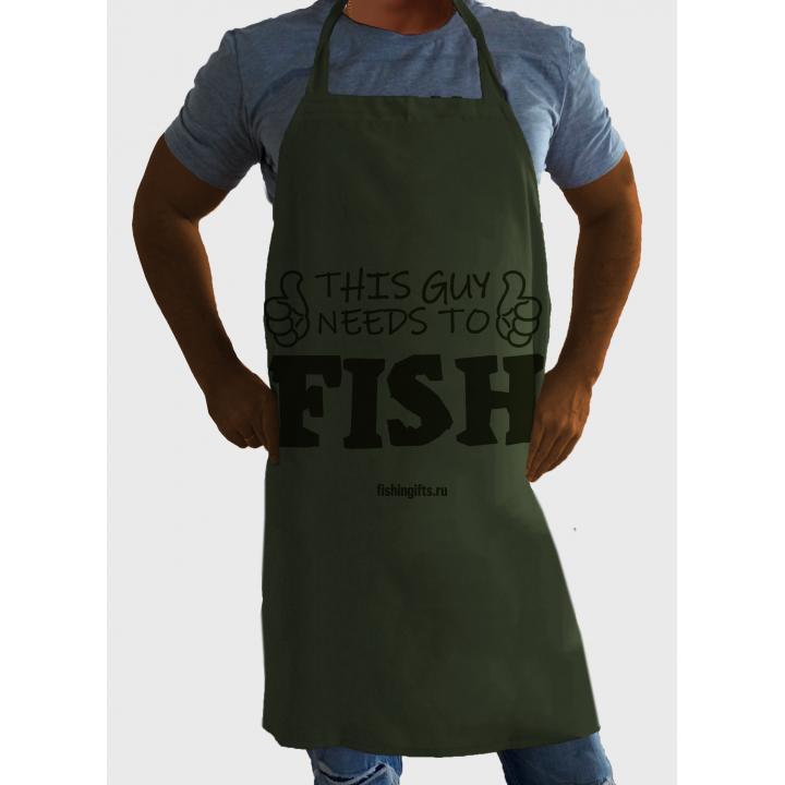 """Фартук рыбака """"Этому парню нужно порыбачить"""""""