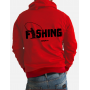 """Толстовка на молнии 3D """"Fishing"""" (красный-черный)"""