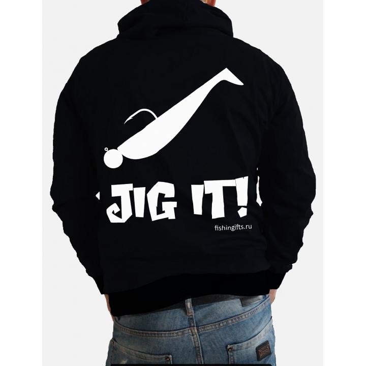 """Толстовка на молнии 3D """"Jig it"""" (черный-белый)"""