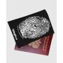 """Обложка для паспорта """"Отпечаток рыбака"""""""