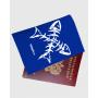 """Обложка для паспорта """"Рыбка скелет*2"""""""