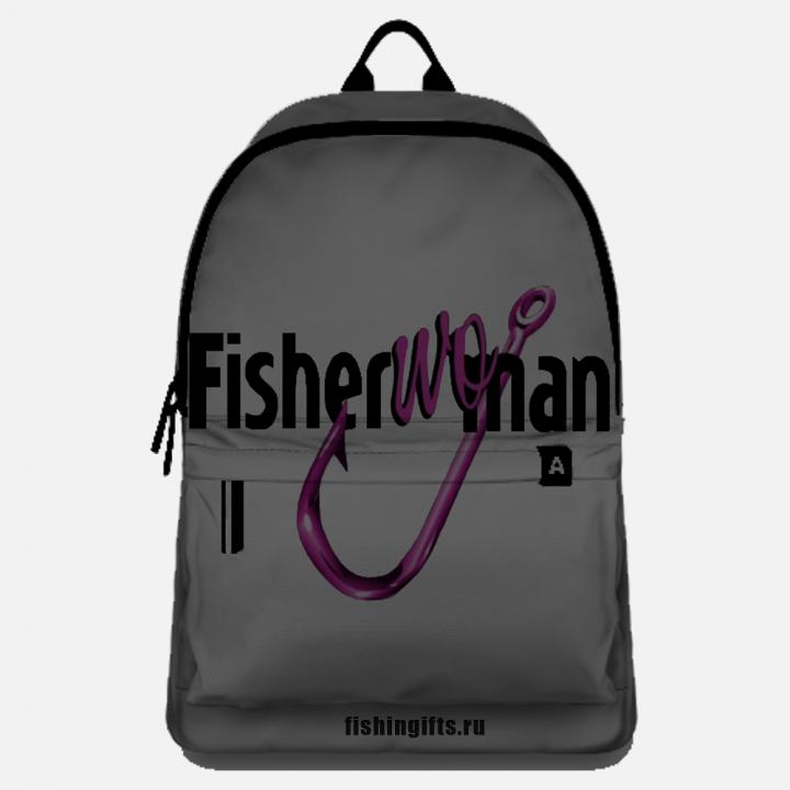 "Рюкзак рыбака ""FisherWoman"" (серый-черный)"