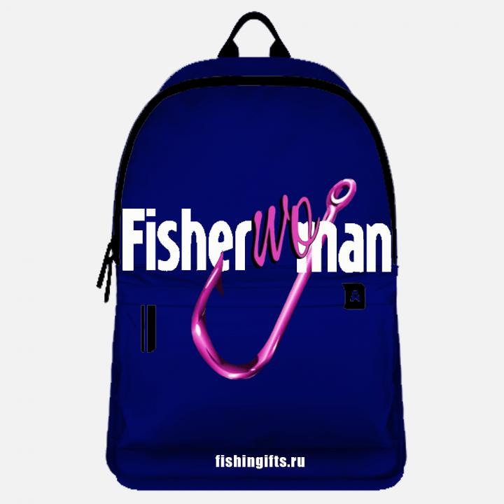 """Рюкзак рыбака """"FisherWoman"""" (синий-белый)"""