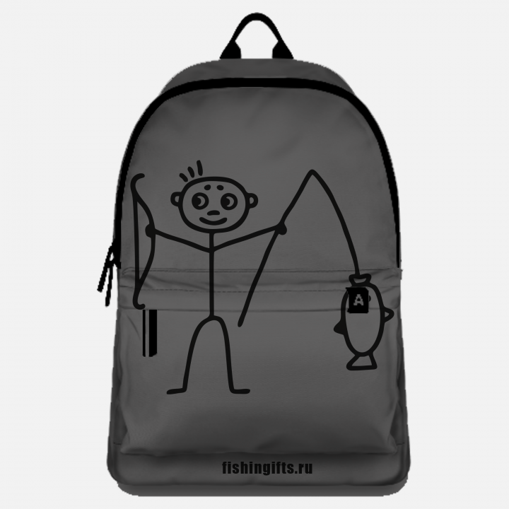 "Рюкзак рыбака ""Малыш"" (серый-черный)"