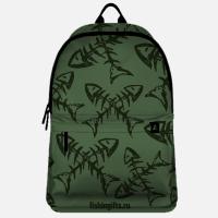 """Рюкзак рыбака """"Рыбка-скелет*2"""" (хаки-хаки)"""