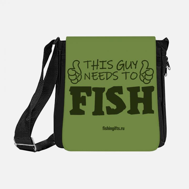 """Сумка рыбака """"Этому парню нужно порыбачить"""" 3D"""