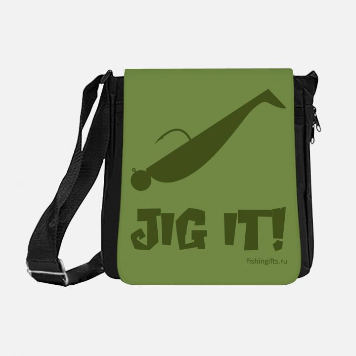 """Сумка рыбака """"Jig it"""" 3D (хаки-хаки)"""