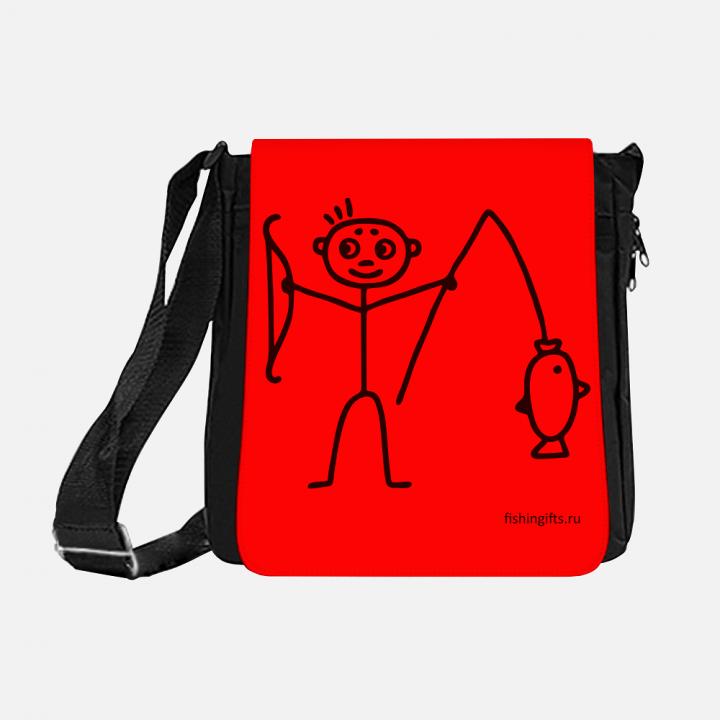 """Сумка рыбака """"Малыш"""" 3D (красный-черный)"""