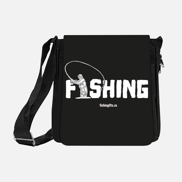 """Сумка рыбака """"Fishing"""" 3D (черный-белый)"""