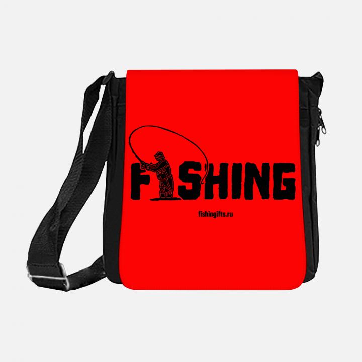 """Сумка рыбака """"Fishing"""" 3D (черный-красный)"""