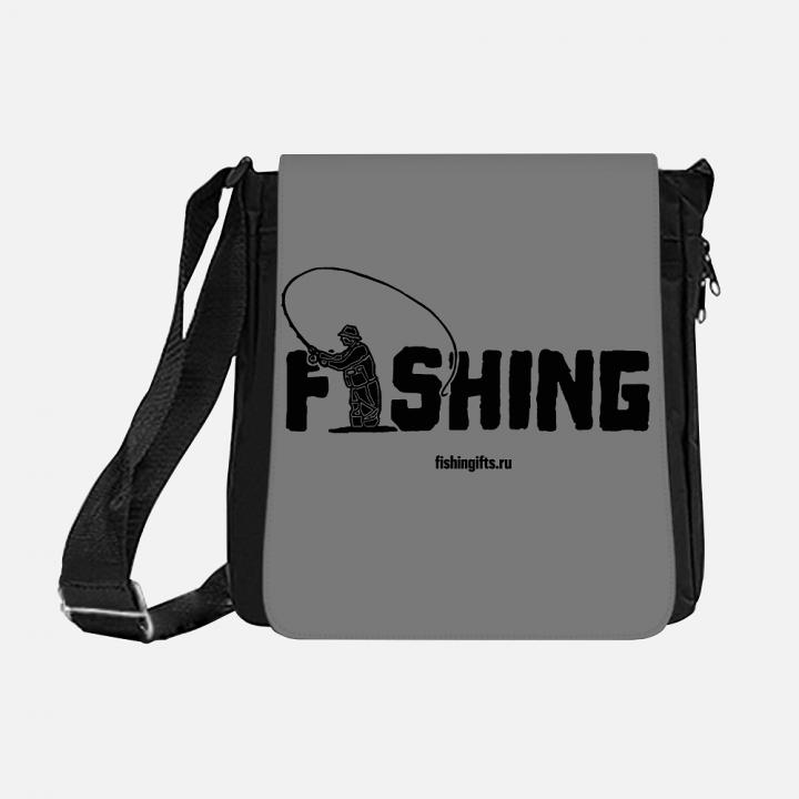 """Сумка рыбака """"Fishing"""" 3D (серый-черный)"""